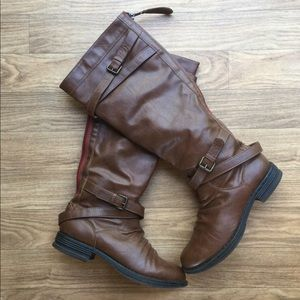 Madden Girl Zerge Leather Knee High Boots